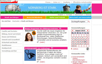 webseite stadt nürnberg